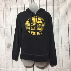 Life Is Good Hoodie Womens S Black Hello Sunshine